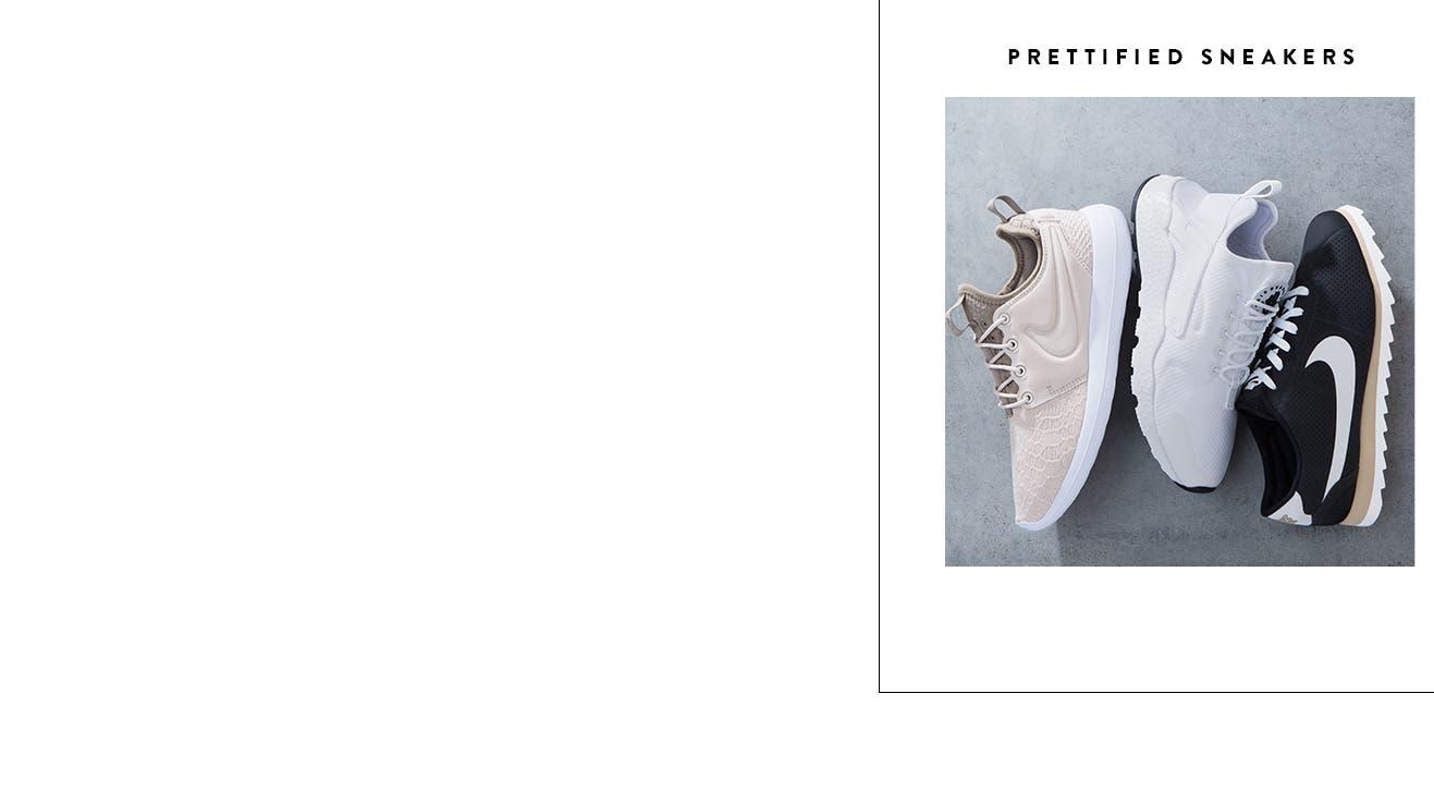 Prettified trend sneakers for women.