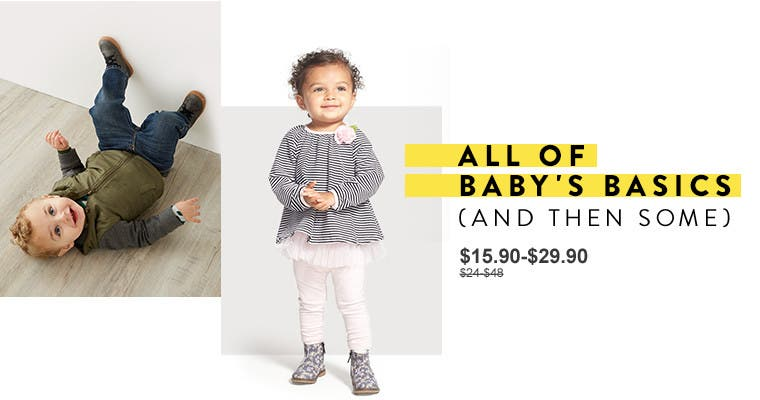 All of baby's basics (and then some). Anniversary Sale baby girl and baby boy clothing.