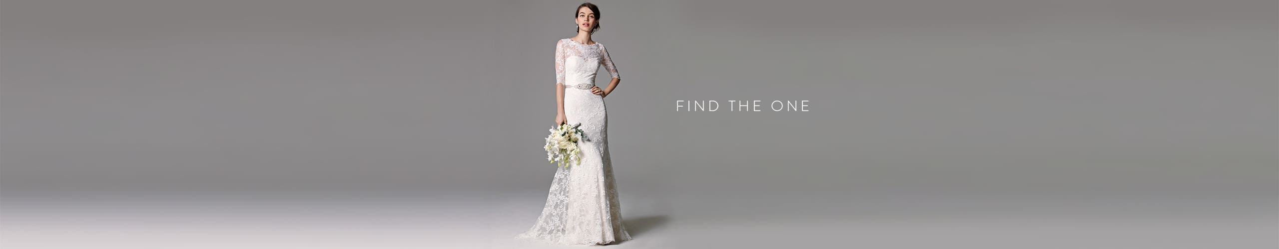 Find the one: wedding dresses online and in stores.