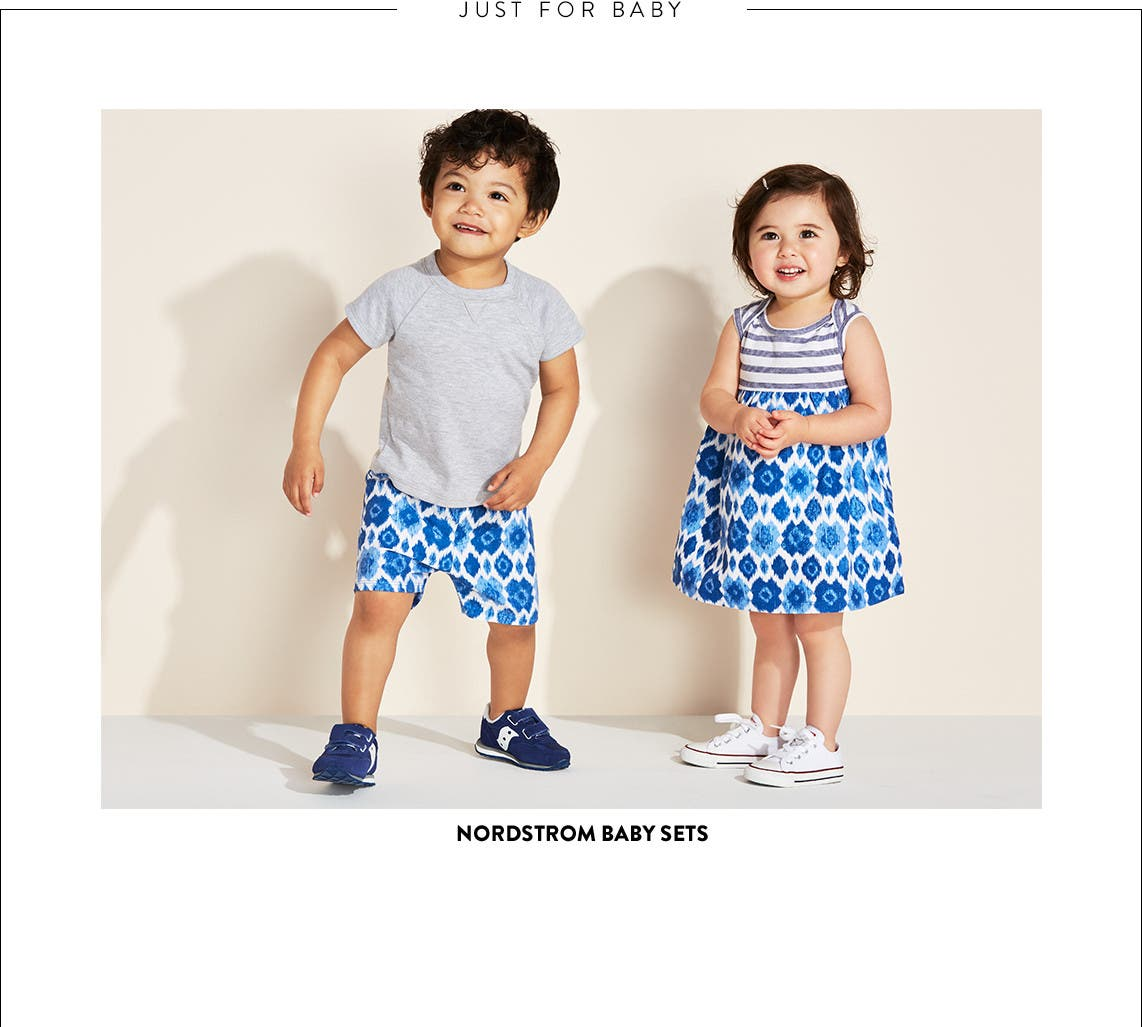 Clothing sets from Nordstrom Baby and more.