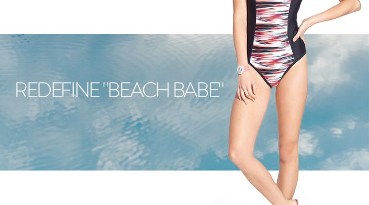 "Redefine ""beach babe."""