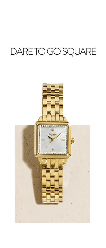 Dare to go square with square-faced watches from kate spade new york.