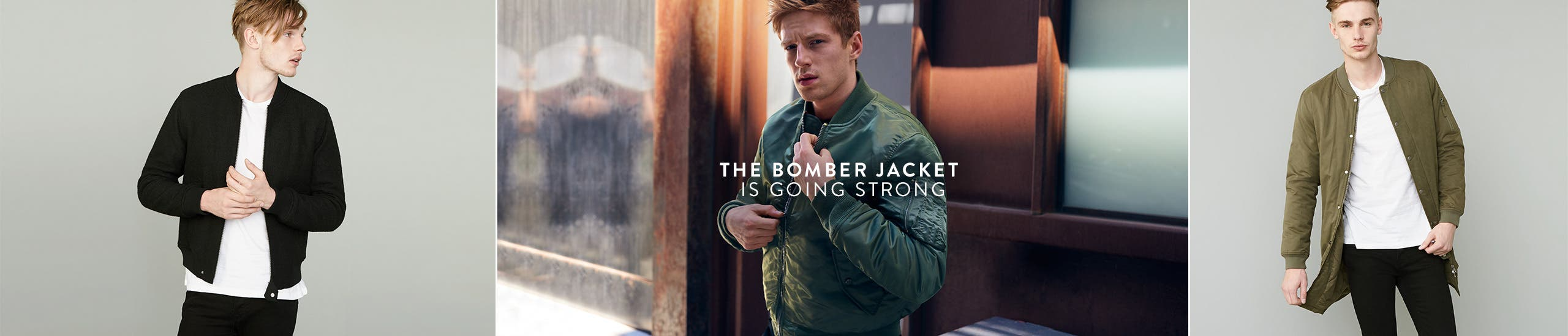 The bomber jacket is going strong.
