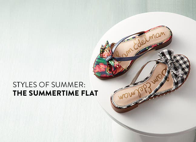 The styles of summer: Flat Sandals