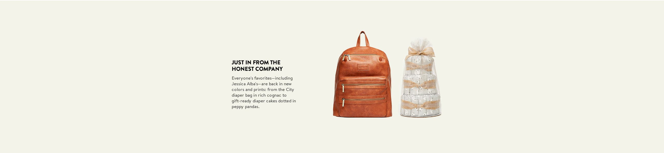 Just in from The Honest Company: the City diaper backpack in cognac.