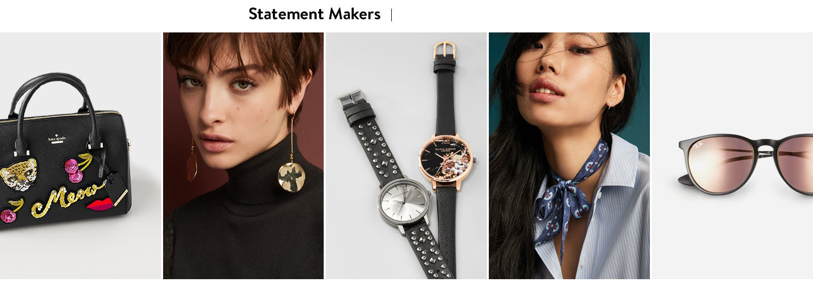 Statement makers: accessories.