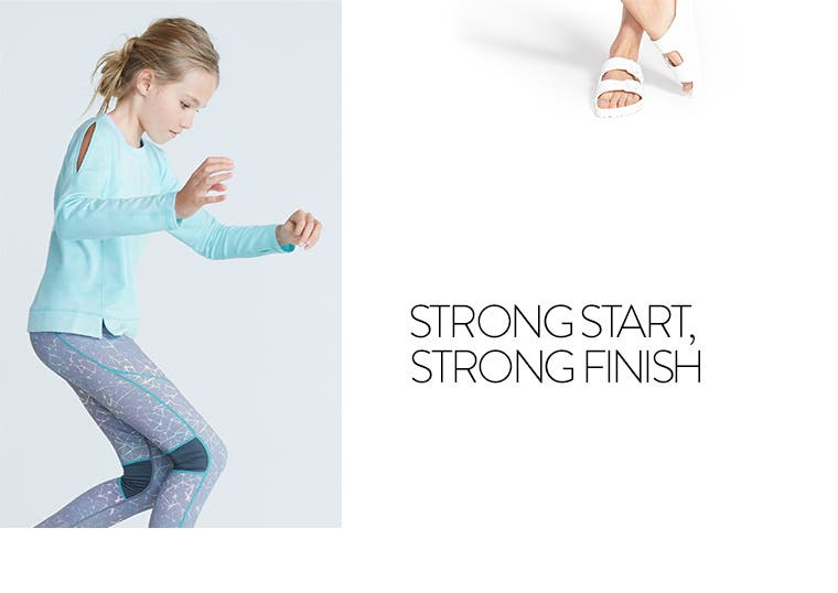 Strong start, strong finish: Zella for kids.