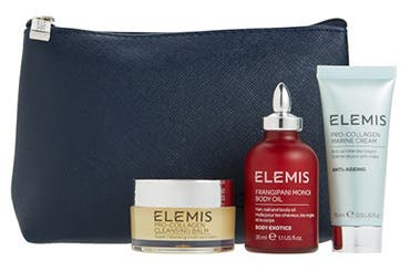 Receive a free 4-piece bonus gift with your $75 Elemis purchase