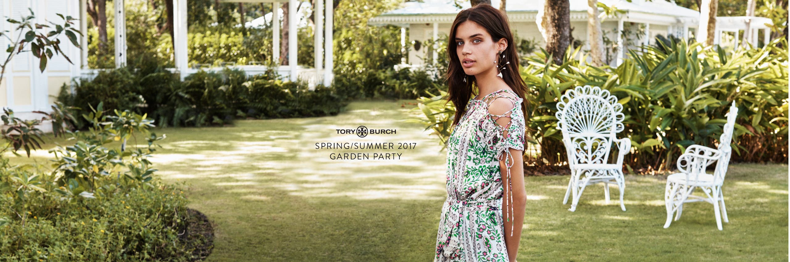 Tory Burch Spring/Summer 2017: garden party.