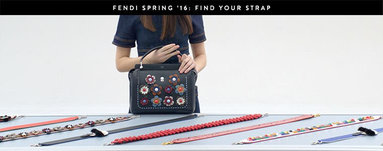 Watch video: choose your own Fendi handbag strap.