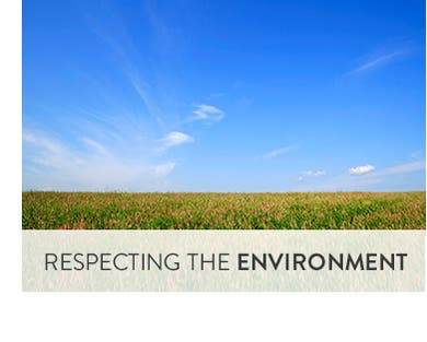 Respecting the environment.