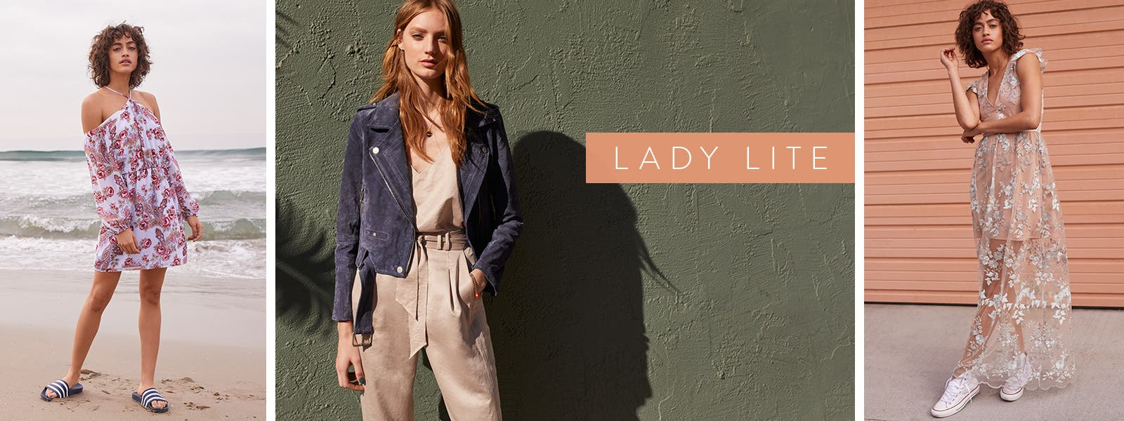 Lady lite: romantic trend clothes with sporty pieces.
