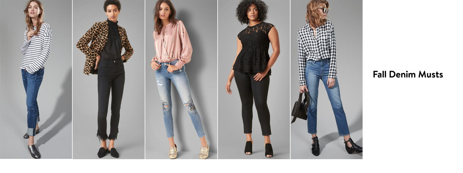 Fall denim musts for women.