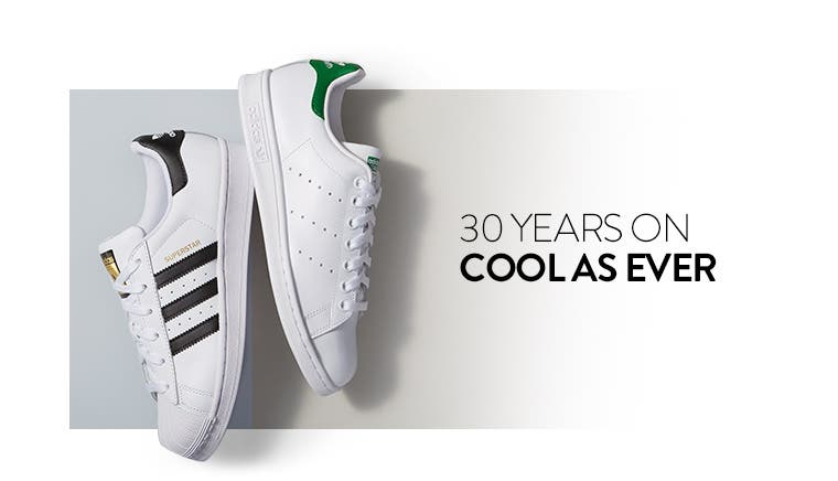 Sneakers from adidas: 30 years on, cool as ever.