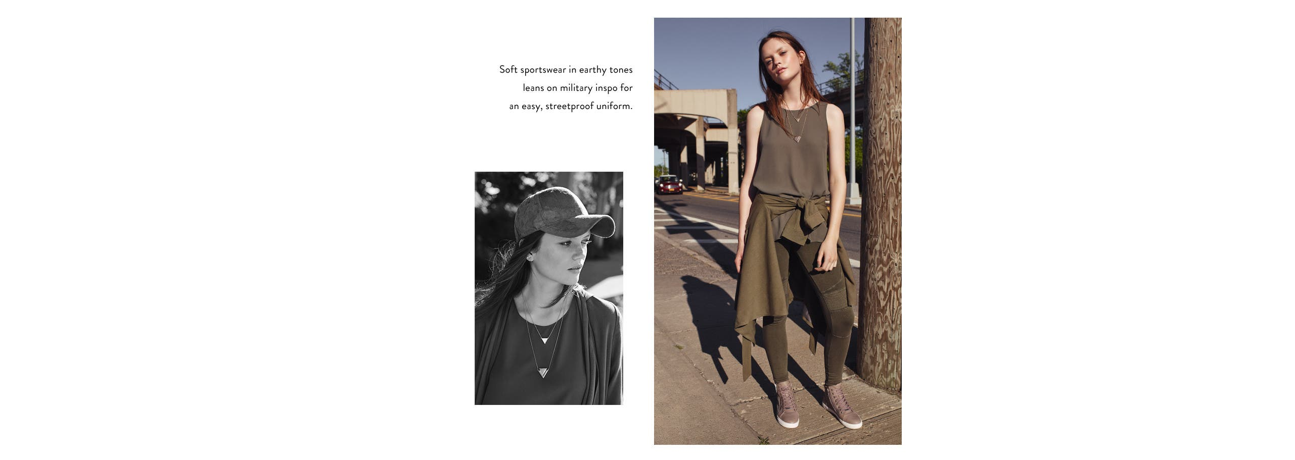 At ease, ladies: military-inspired clothing and more.