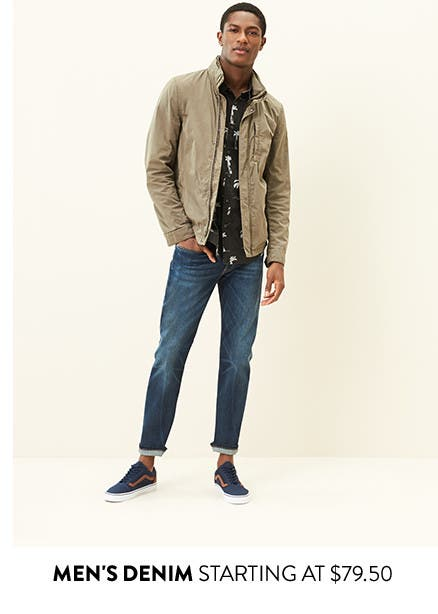 Men's denim starting at $79.50. Shop men's jeans.