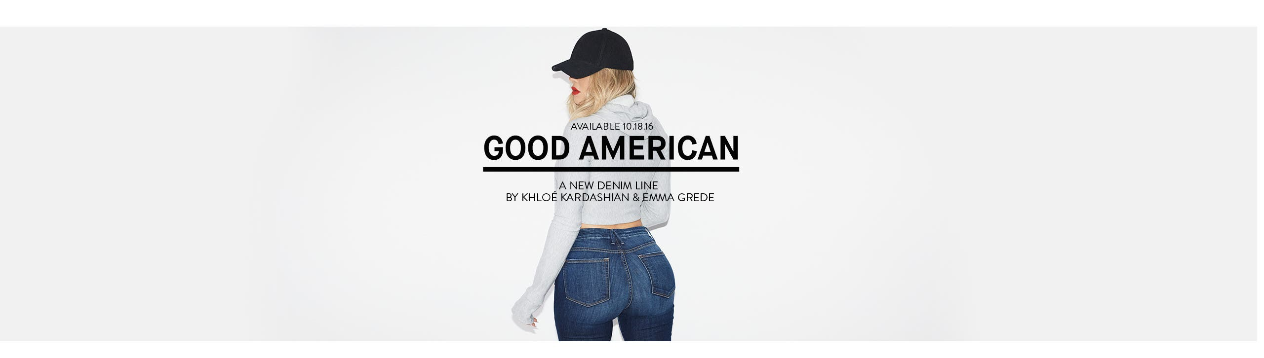 Available 10.18.16: Good American denim.