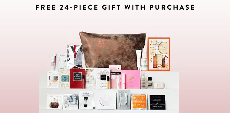 Receive a free 24piece bonus gift with your $125 purchase