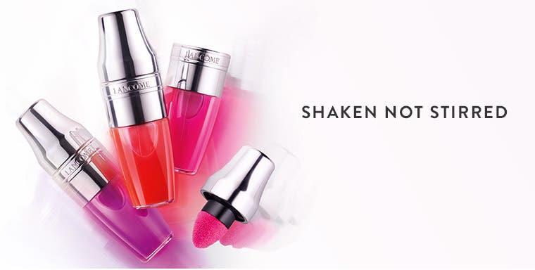 Shaken not stirred: new Lancôme lip color.