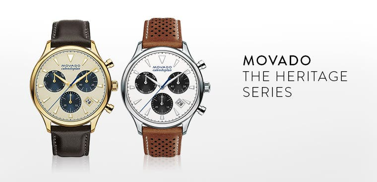 Movado watches: the heritage series.