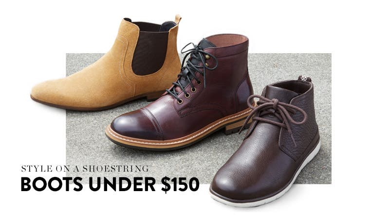 Style on a shoestring: men's boots under $150.
