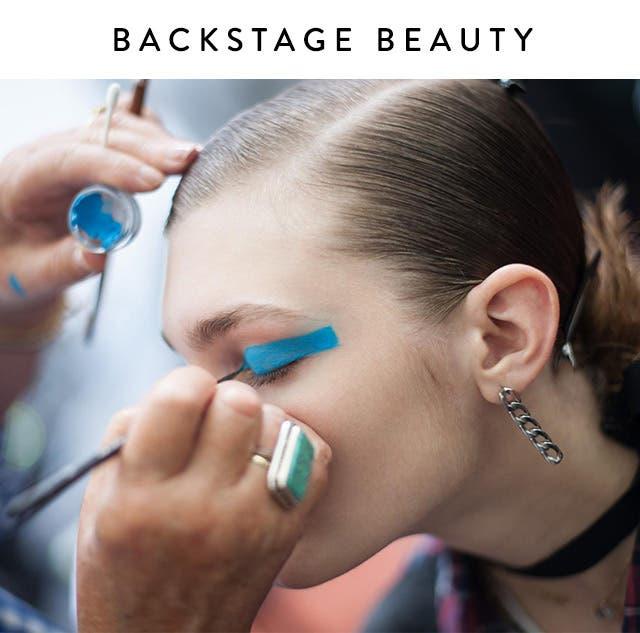 Backstage beauty.