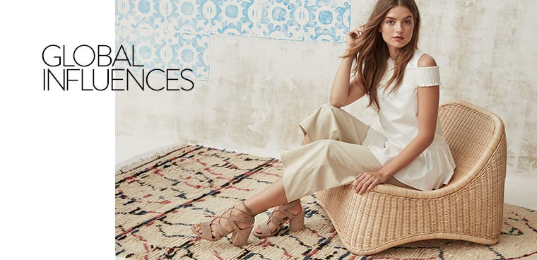 Global influences on women's sandals.