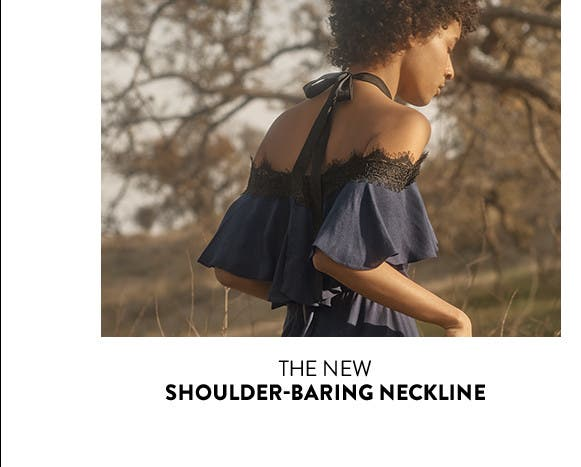 The new shoulder-baring neckline.