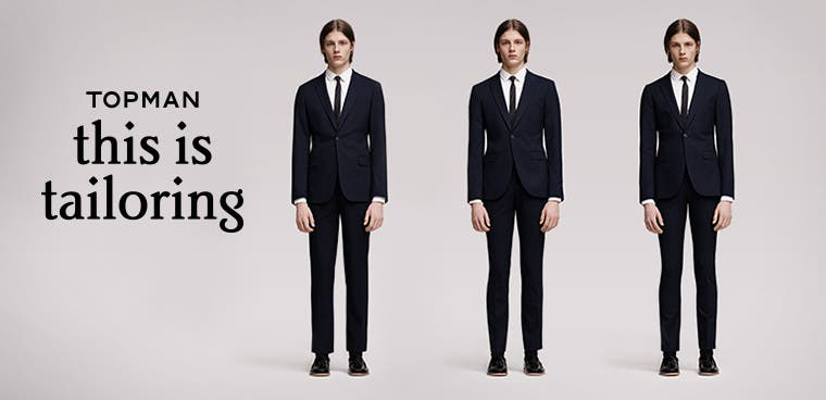 This is tailoring: Topman suits.