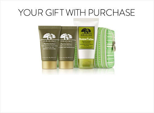 Receive a free 4-piece bonus gift with your $65 Origins purchase