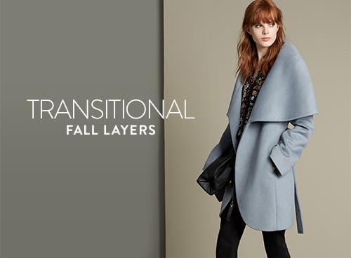 Transitional fall coats for women.