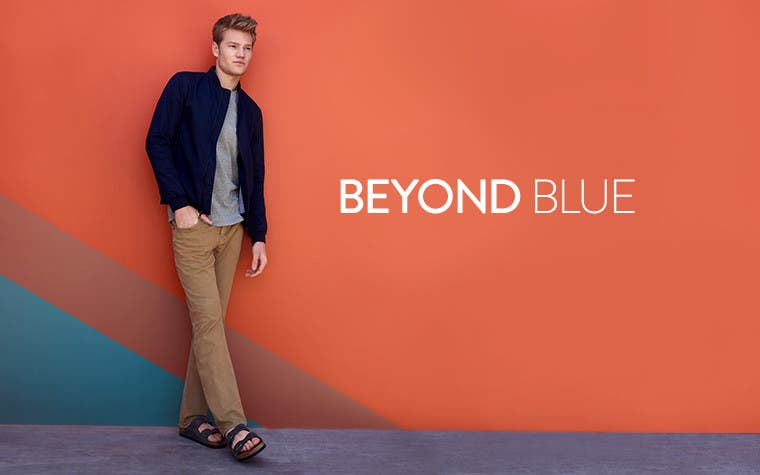 Beyond blue. Men's jeans trend.
