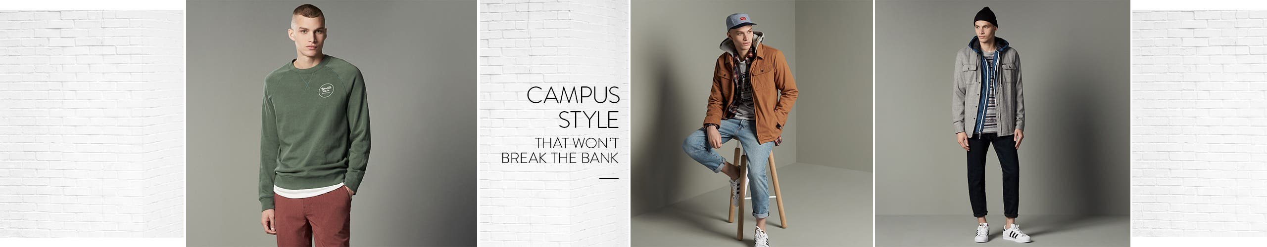 Campus style for men that won't break the bank.