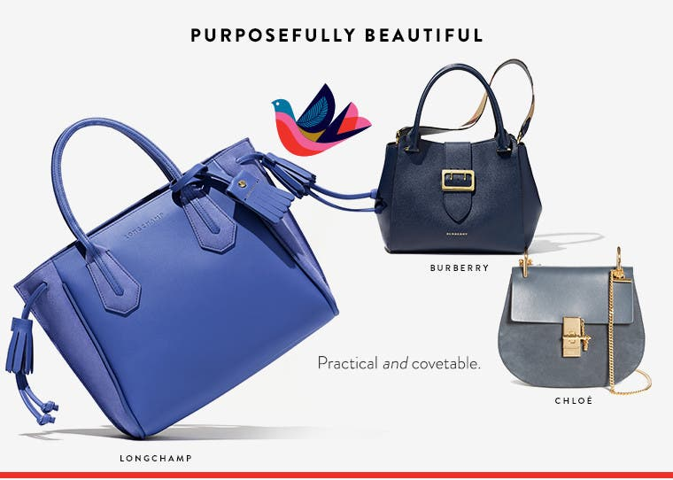 Purposefully beautiful designer handbags.