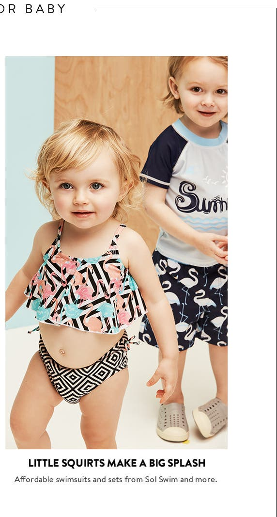 Baby swimwear for girls and boys.