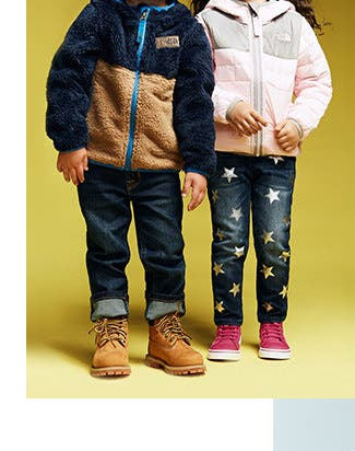 Coats and jackets for little kids from The North Face and more.