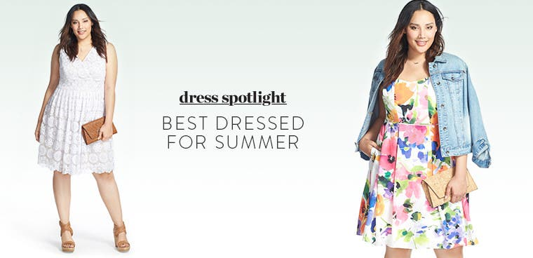 Dress Spotlight: best dressed in the latest plus-size styles for summer.