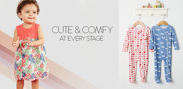 Cute, comfy baby girl clothing.