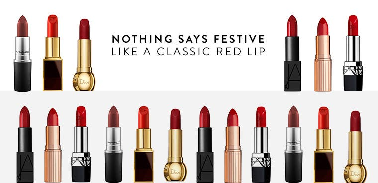 Nothing says festive like a classic red lip.
