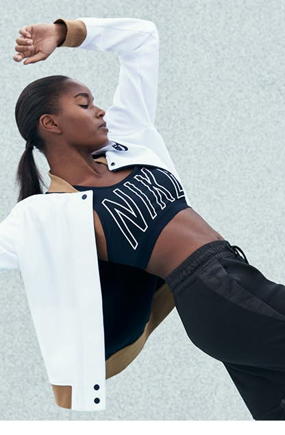 Nike activewear and shoes for women.