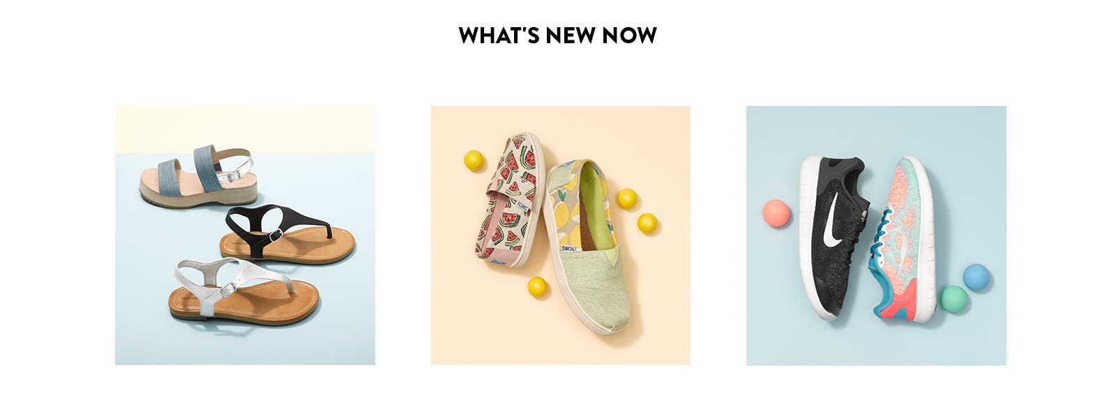 New spring sandals, slip-ons and sneakers for girls.