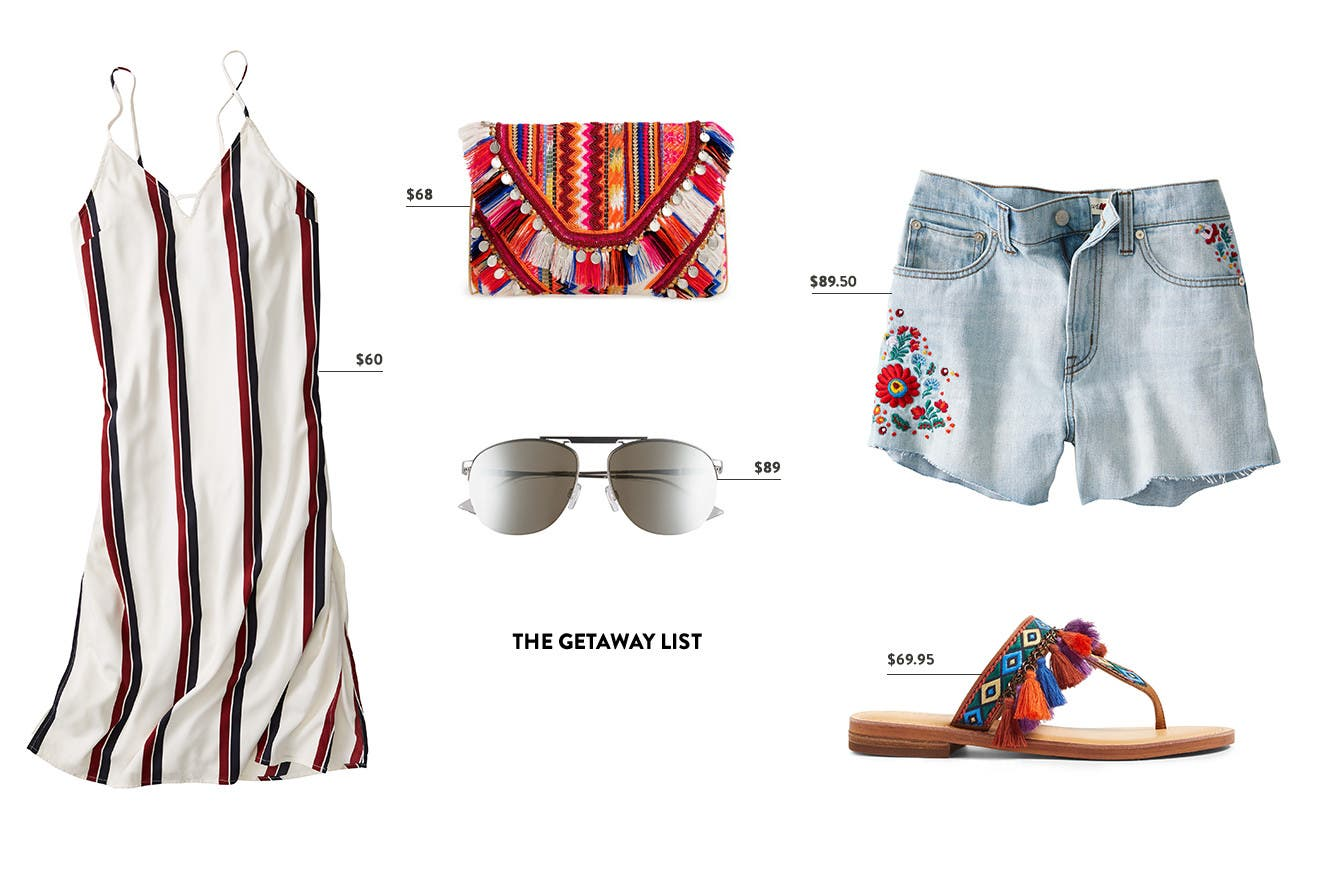 The getaway packing list.
