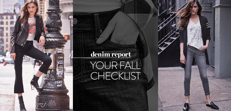Your Fall Checklist: the guide to fall's best denim.