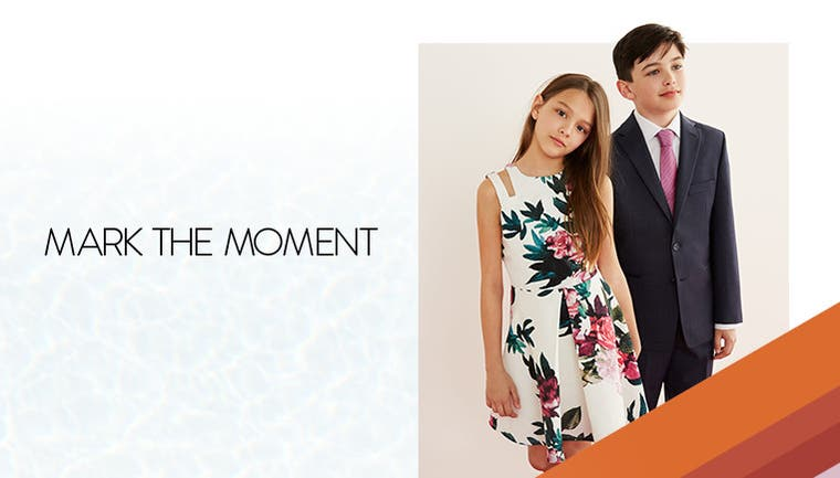 Mark the moment with kids' dresswear.