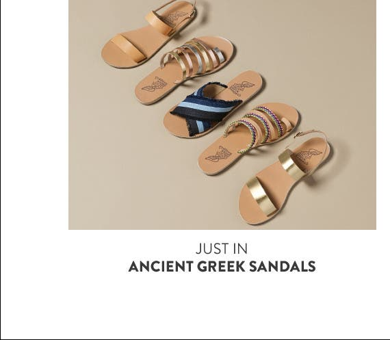 Just in: shoes from Ancient Greek Sandals.