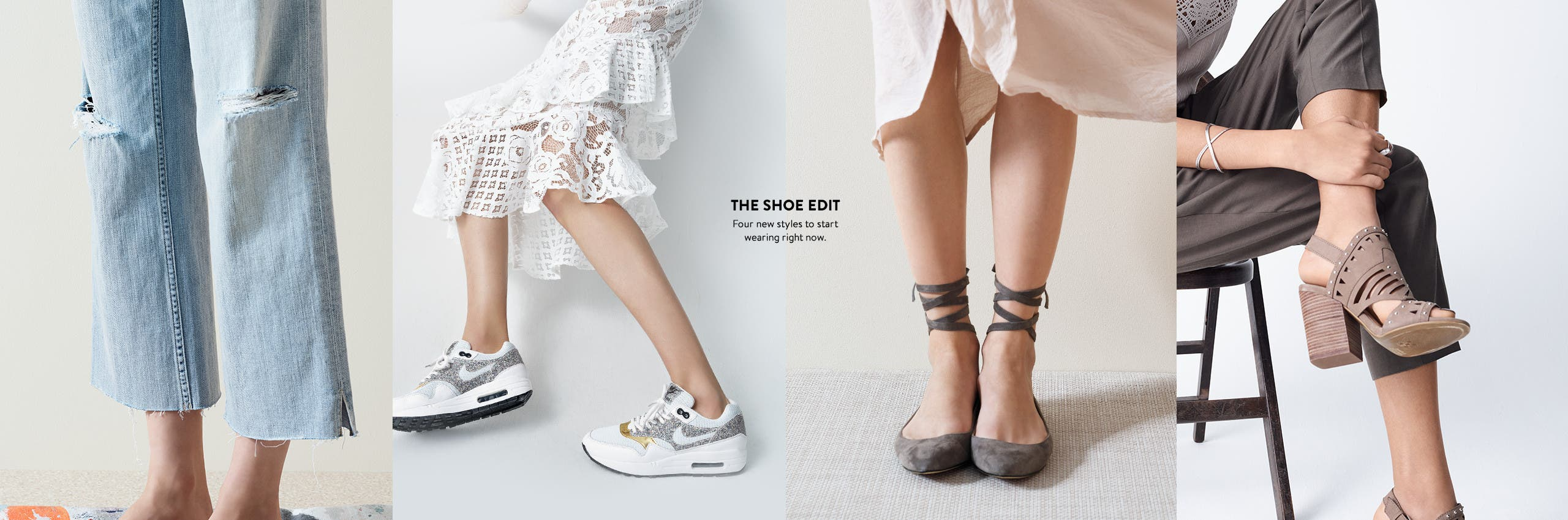 The shoe edit. Four new styles to start wearing right now.