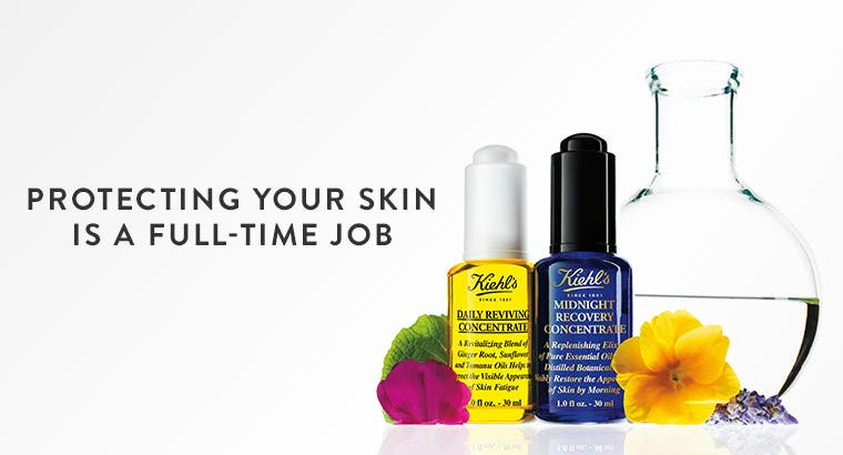 Facial oils for day and night from Kiehl's Since 1851.