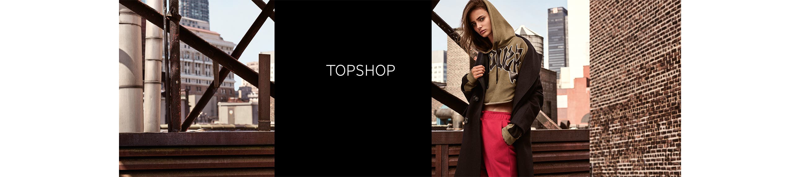 Topshop clothing, shoes and accessories.