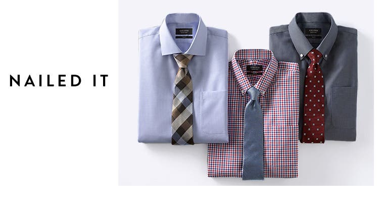 Nailed it: matching shirt-and-tie combinations.