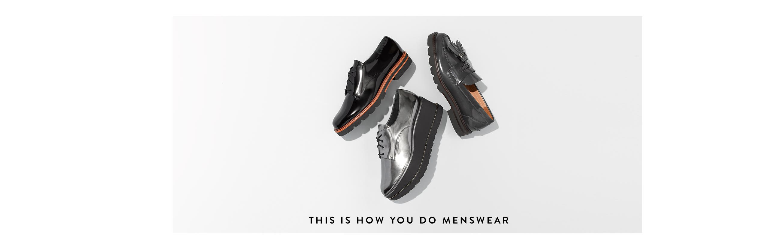 This is how you do menswear shoes.